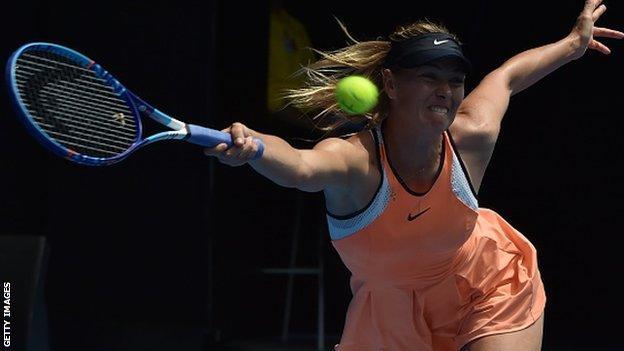 Sharapova is a five-time Grand Slam champion