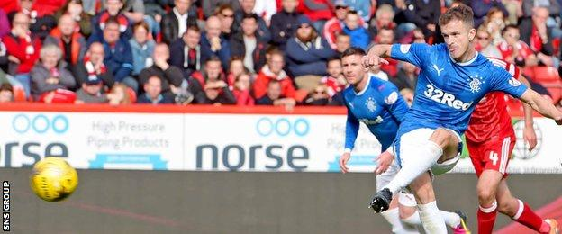Andy Halliday scores from the penalty spot
