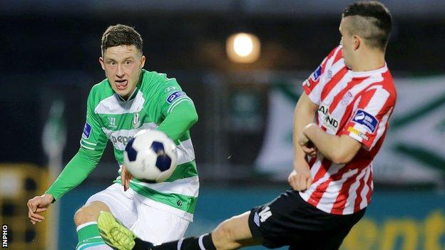 Rob Cornwall in action against Derry City last season
