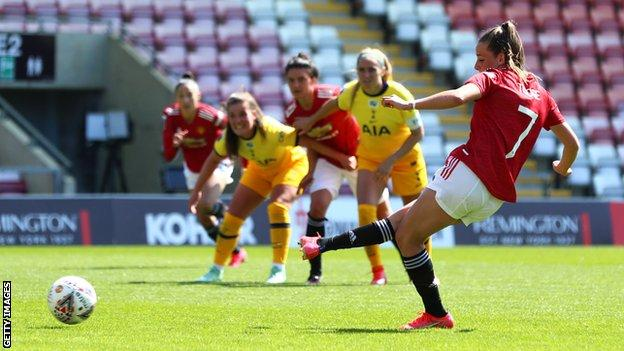 Ella Toone scores a penalty