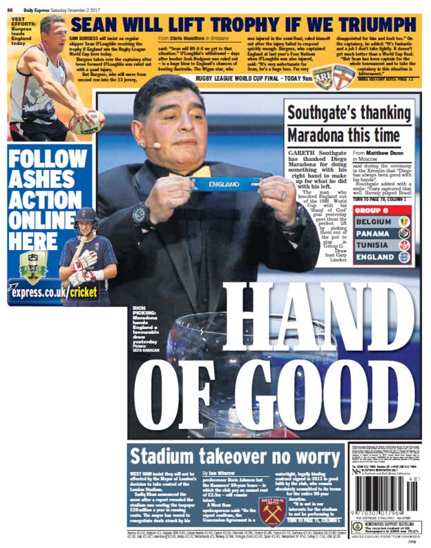 The Expressback page on Saturday