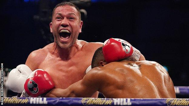 After being caught heavily by Joshua in round three Pulev roared and smiled defiantly