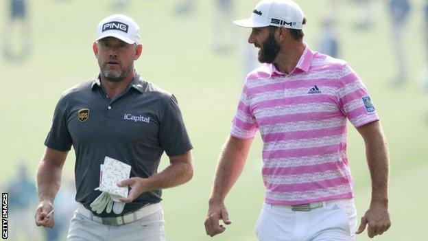 Lee Westwood and Dustin Johnson