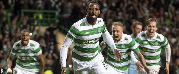 Moussa Dembele celebrates