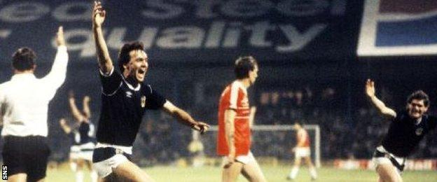 Davie Cooper scored six international goals in 22 appearances for Scotland