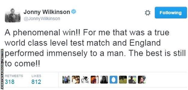 Jonny Wilkinson on Twitter