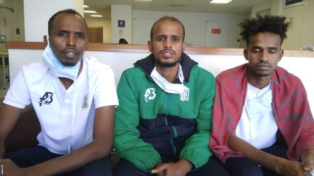 Djibouti internationals Bilal Hassan, Aboubakar Elmi and Nassrodin Aptidon