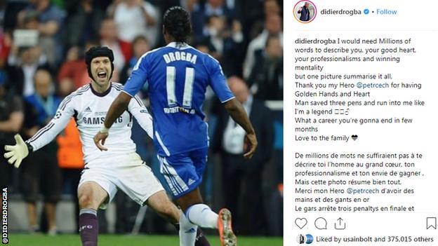 Didier Drogba Instagram post