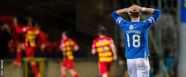 St Johnstone remain in fifth spot, four points ahead of Thistle