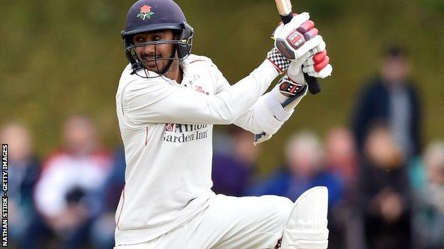Haseeb Hameed was one of four final-day half-centurions for Lancashire