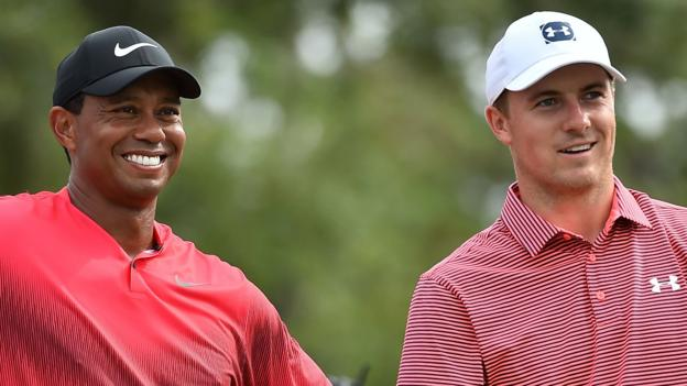 102639939 woods - The Open 2018: Jordan Spieth relishes Tiger Woods assert of affairs at Carnoustie