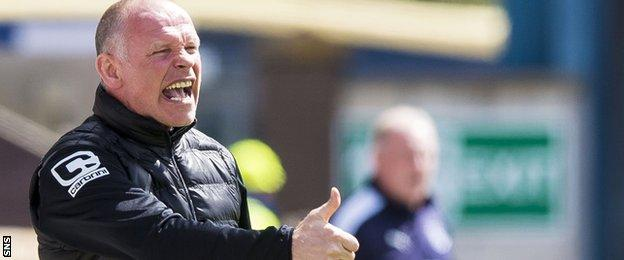 John Hughes makes a point as Inverness manager