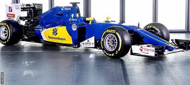 The new Sauber car