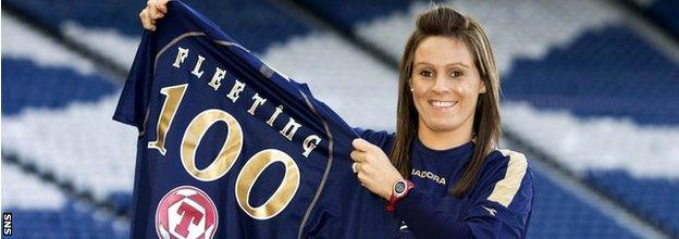 Julie Fleeting scored 116 goals in 121 appearances for her country