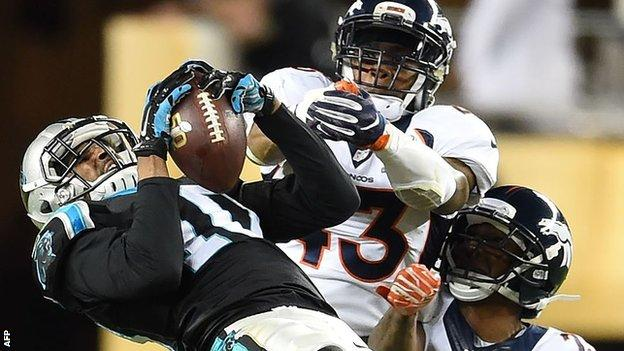 Action from Super Bowl 50 as Denver Broncos beat Carolina Panthers
