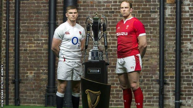 England captain Owen Farrell and Wales skipper Alun Wyn Jones have been team-mates on two British and Irish Lions tours