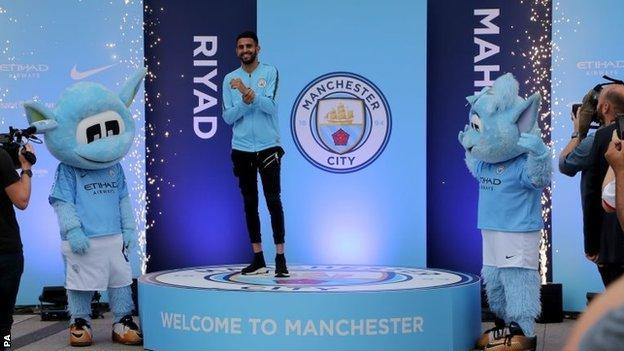 Riyad Mahrez is Manchester City's record signing
