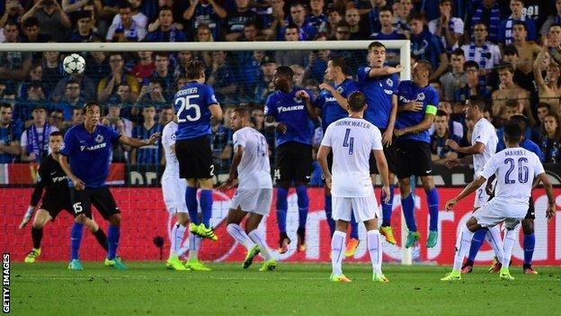 Riyad Mahrez scores Leicester's second goal