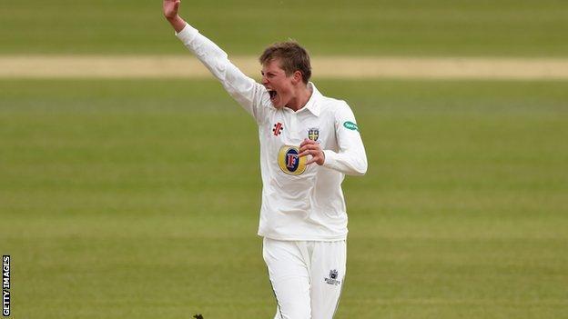 Durham fast bowler Brydon Carse