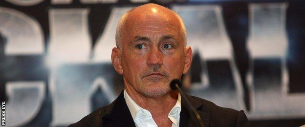 Frampton's manager and promoter Barry McGuigan