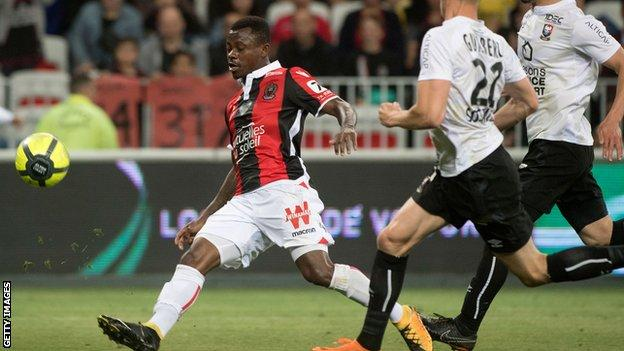 Jean Michael Seri playing for Nice