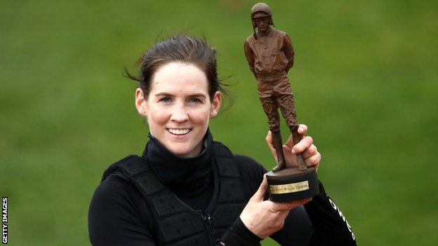 Rachael Blackmore with the Ruby Walsh Trophy