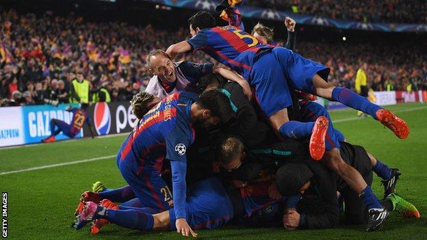 Barselona kutlamak
