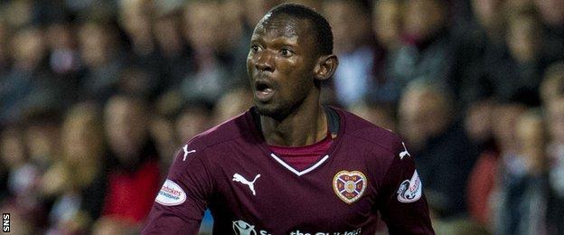 Hearts full-back Juwon Oshaniwa