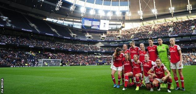 Arsenal team pose