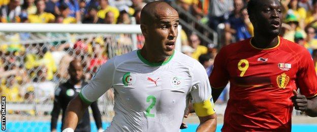 Madjid Bougherra in action for Algeria