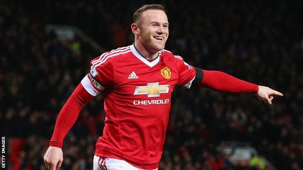 Manchester United's Wayne Rooney celebrates scoring
