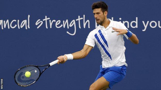 Novak Djokovic in the Western & Southern Open final