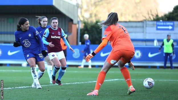 Sam Kerr, West Ham'a karşı gol attı