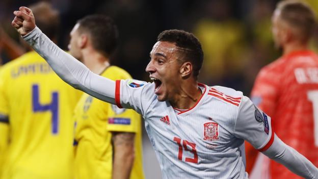 Sweden 1-1 Spain: Robert Moreno's side qualify for Euro 2020 thumbnail