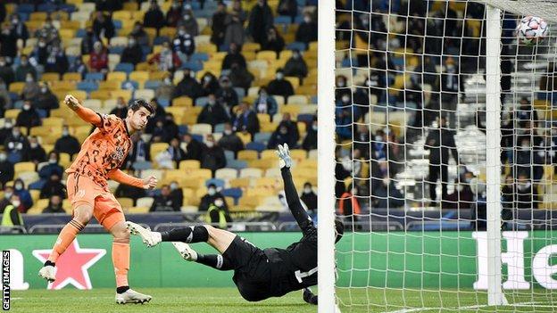 Dynamo Kyiv 0-2 Juventus: Alvaro Morata scores two in Champions League win - BBC Sport