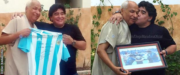 Diego Maradona Instagram picture with 1986 World Cup referee