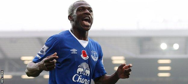 Everton forward Arouna Kone