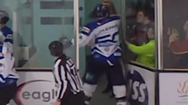 99831349 p05wpyh4 - Look: Ice hockey player banned for punching fan