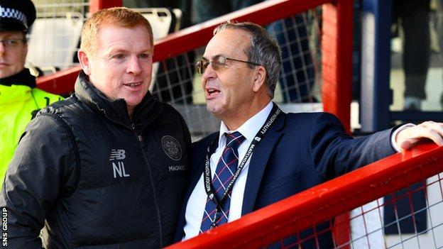 """MacGregor (right), believes clubs should """"trust"""" the SPFL board"""