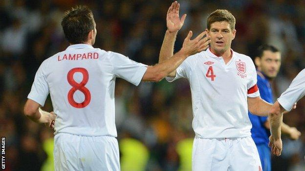 Frank Lampard and Steven Gerrard