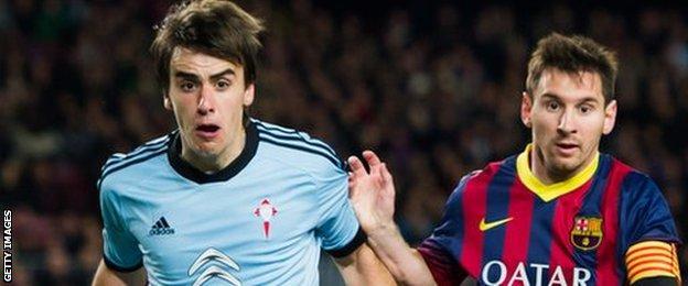 Jon Aurtenetxe was loaned to Celta Vigo from Athletic Bilbao in season 2013-14