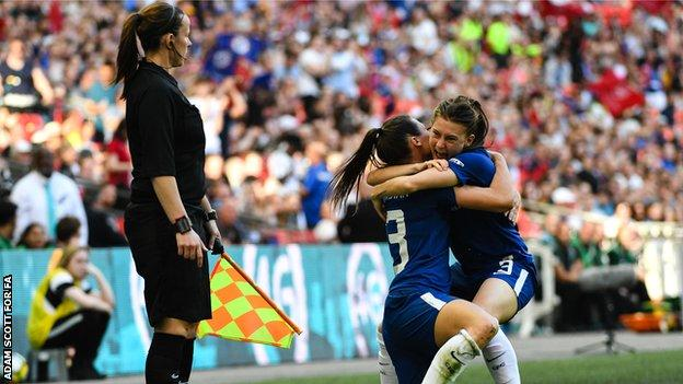 Pearson was assistant referee for the 2018 Women's FA Cup final between Chelsea and Arsenal