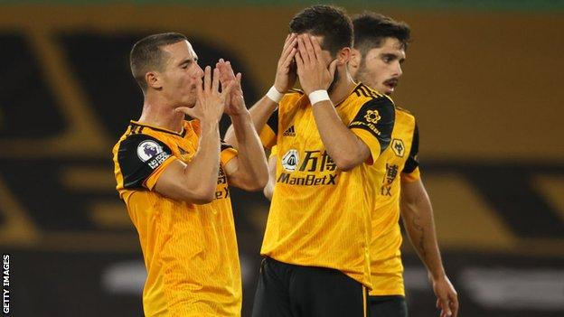 Wolves players react