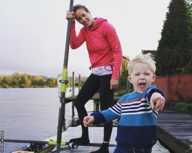 helen glover and her son