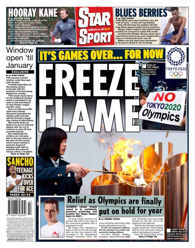 Star back page for Wednesday, 25 March