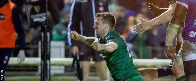 Jack Carty scored 10 points off the bench for Connacht