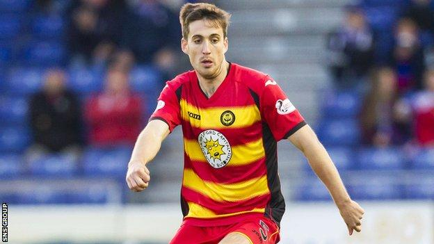 Partick Thistle left-back Callum Booth