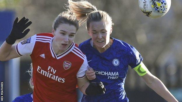 Chelsea v Arsenal in Women's Super League