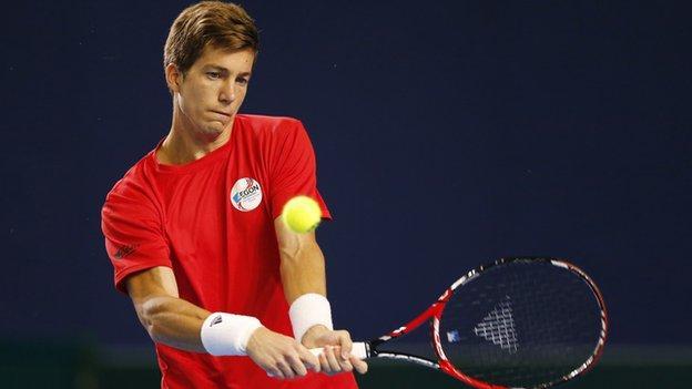 British number two tennis player Aljaz Bedene