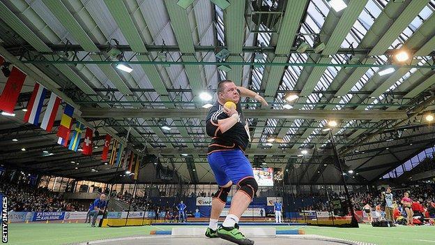 Indoor athletics at Karlsruhe